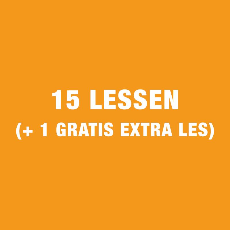 15 Lessen (+ 1 Gratis Extra Les)