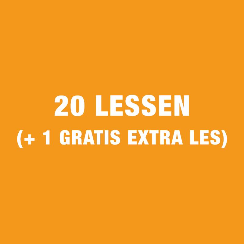 20 Lessen (+ 1 Gratis Extra Les)